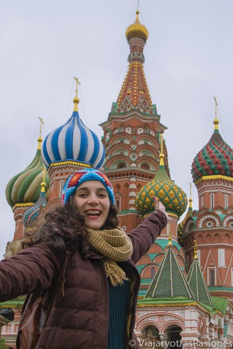 Colorida Catedral de San Basilio en Moscú en Rusia
