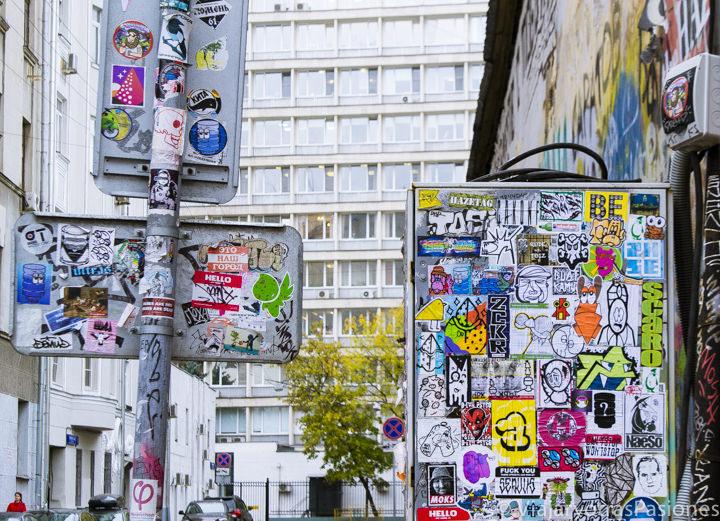 Inesperado street art cerca de la avenida Arbat en qué ver en Moscú en Rusia