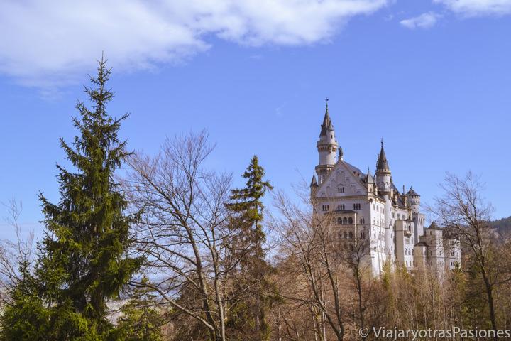 Hermoso paisaje del castillo de Neuschwanstein en Baviera, Alemania