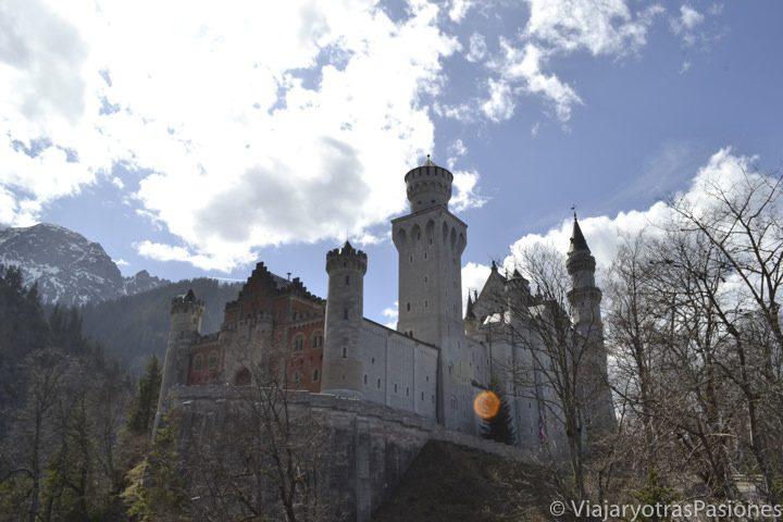 Vista cerca del castillo de Neuschwanstein en Alemania