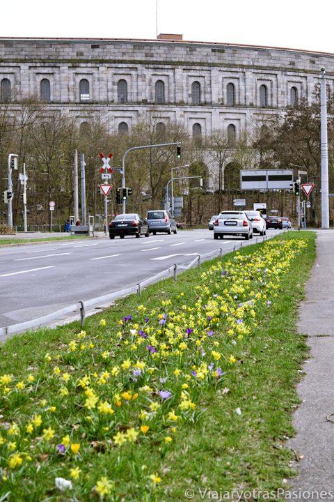 Paisaje del centro de Documentación en Nuremberg en Alemania