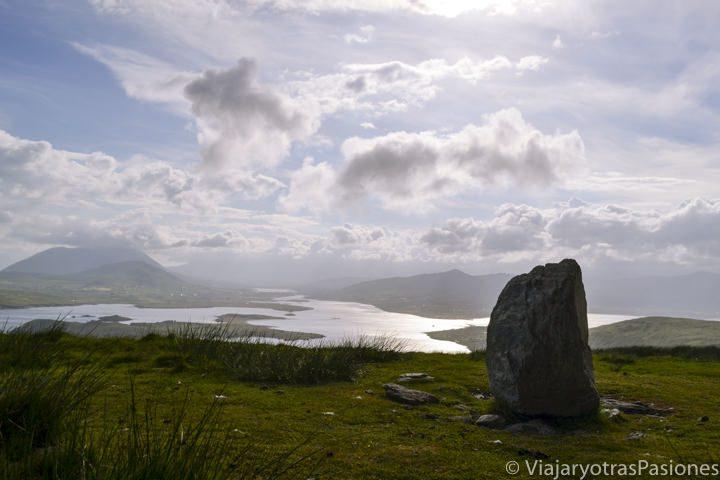 La Geokaun montain, en Valentia la isla Valentia, parte del Anillo de Kerry, en Irlanda