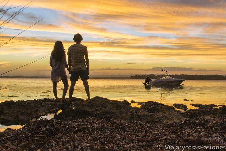 Emocionante atardecer cerca de Jervis Bay en Australia