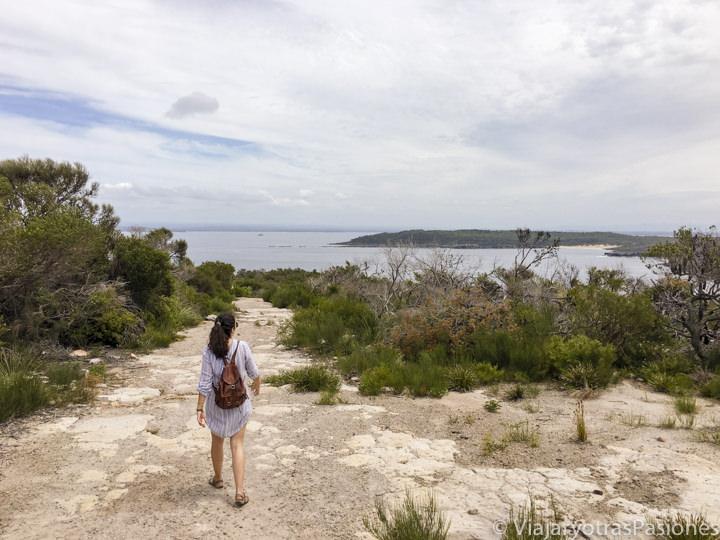 Haciendo un trekking cerca de Point Perpendicular, en Jervis Bay, Australia