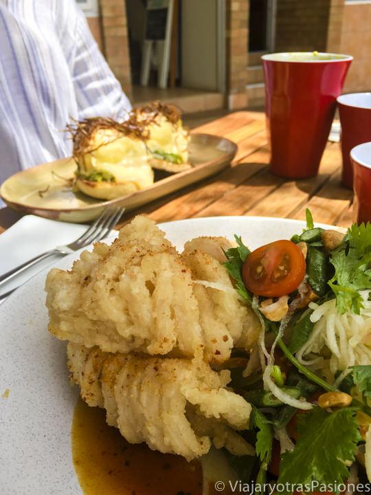 Deliciosa comida en Huskisson, en Jervis Bay, Australia