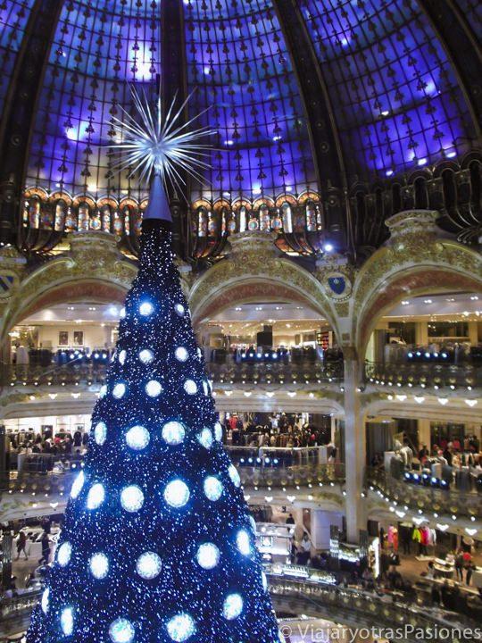 Decoración navideña en las Galerías Lafayette