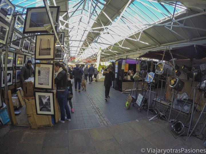 El famoso mercado de Greenwich en Londres, Inglaterra