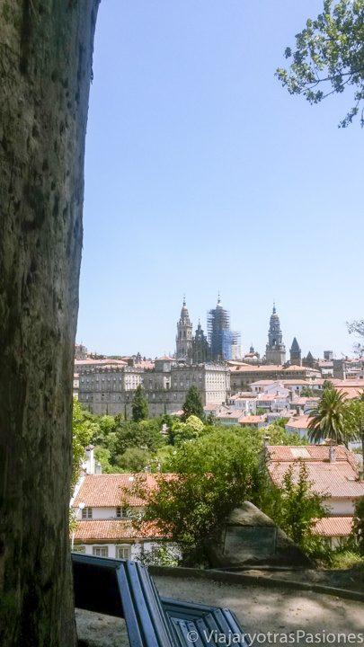 Increíble paisaje de la ciudad de Santiago de Compostela en España