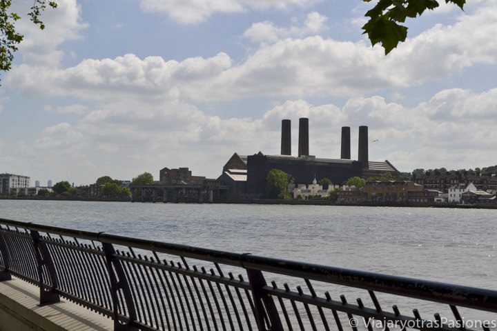 Maravillosa vista sobre Greenwich desde Island gardens en Londres, Inglaterra