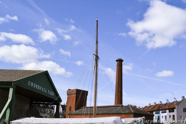 Underfall Yard, el antiguo astillero en el puerto de Bristol, Inglaterra