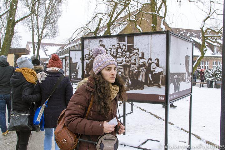 Entrada del campo de concentración de Auschwitz, en Polonia