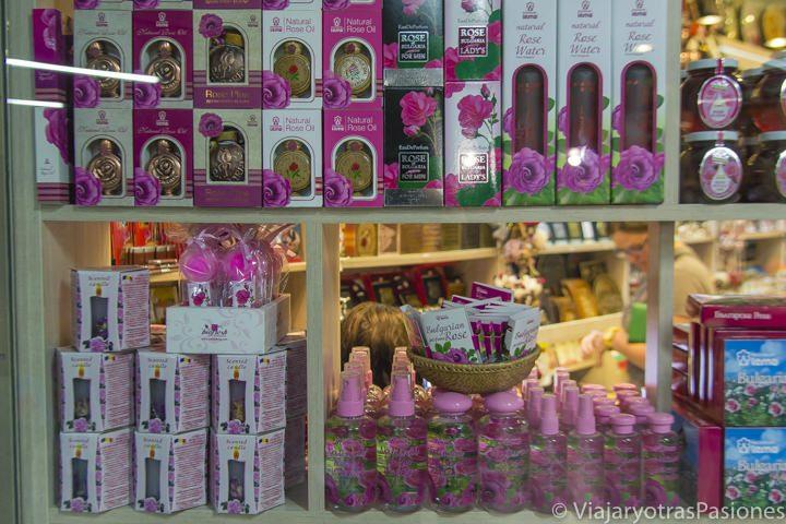 Productos con rosas búlgaras que se pueden comprar en Sofía