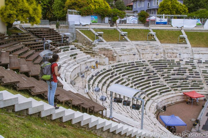 Impresionante teatro romano, imprescindible en la visita a Plovdiv en un día