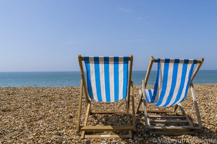 Bonita playa de Brighton en Inglaterra