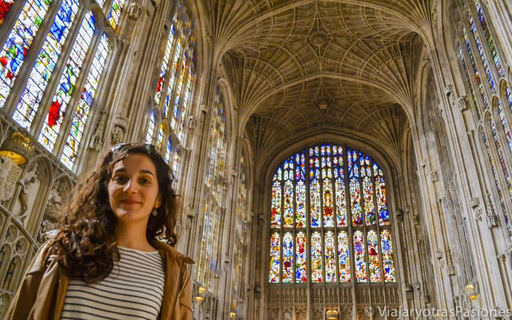 La capilla del King's College en Cambridge, Inglaterra