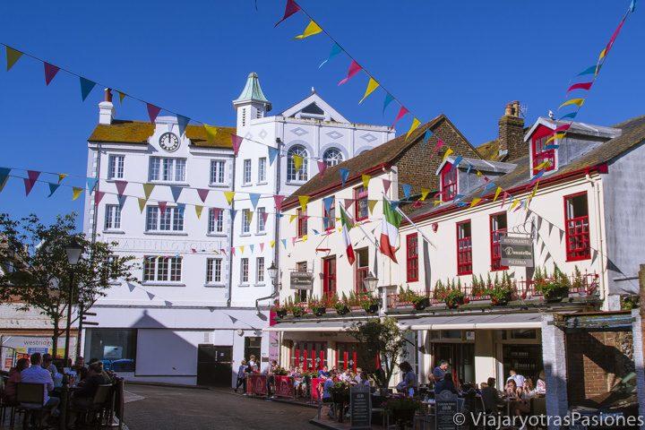 The Lanes, en el centro de Brighton, Inglaterra