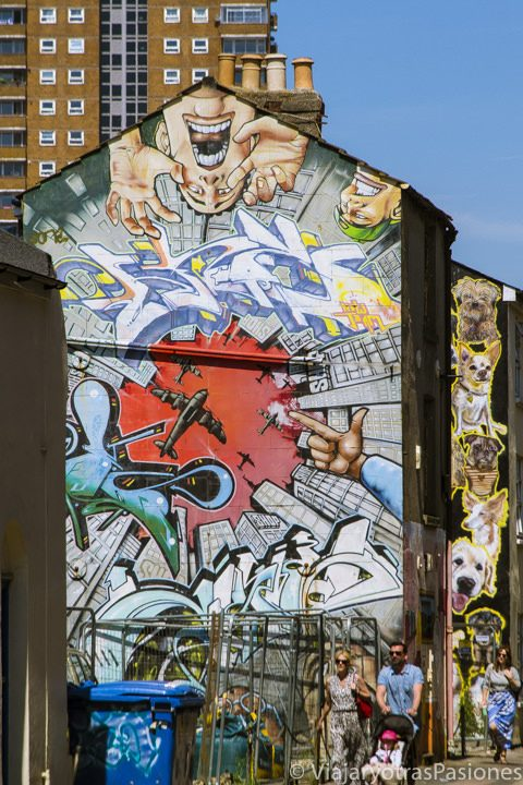 Graffiti en el barrio bohemio de North Laine, Brighton