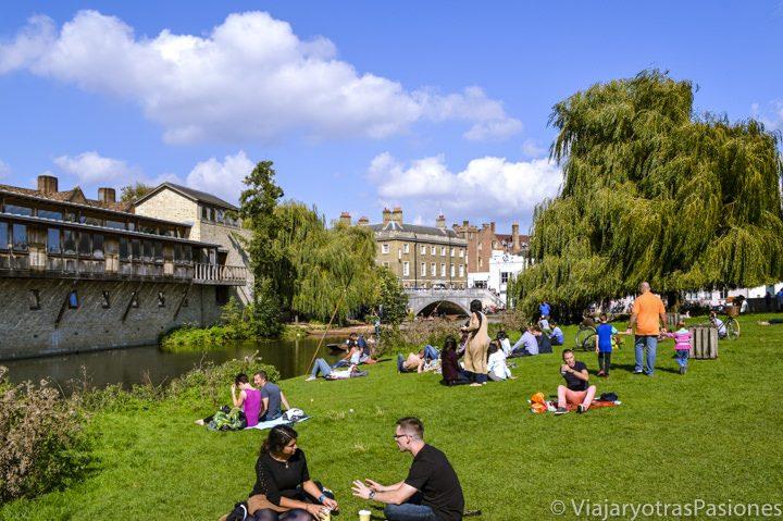 Ambiente junto al río Cam, Cambridge