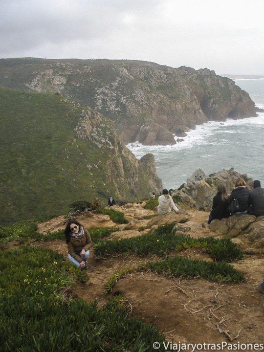 Paisaje del Cabo de Roca, cerca de Lisboa, Portugal