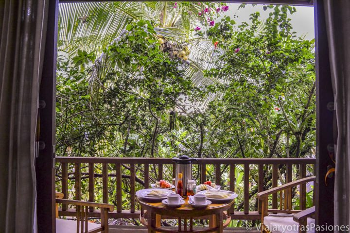Nuestra habitación en Ubud, Bali