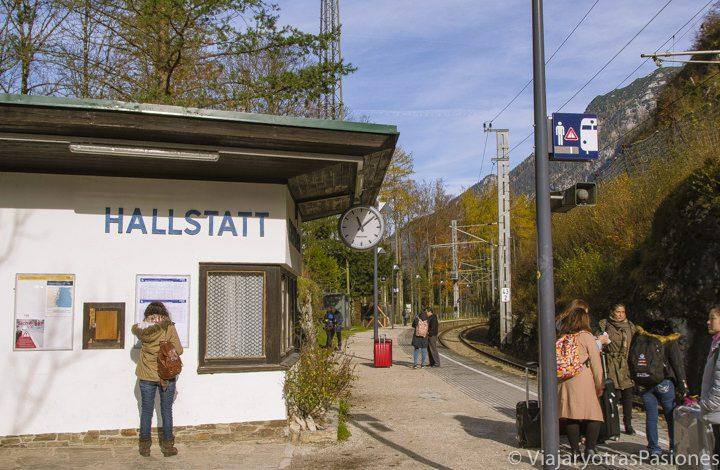 Estación de tren de Hallstatt, Austria