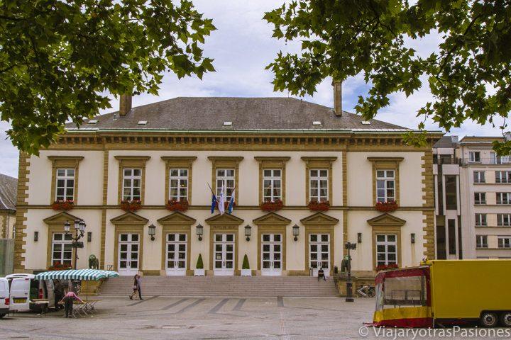 Ayuntamiento de Luxemburgo, en la Plaza Guillermo II
