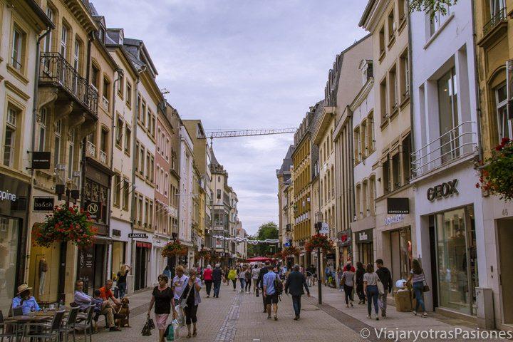 Grand Rue de Ciudad de Luxemburgo, la calle principal de la ciudad