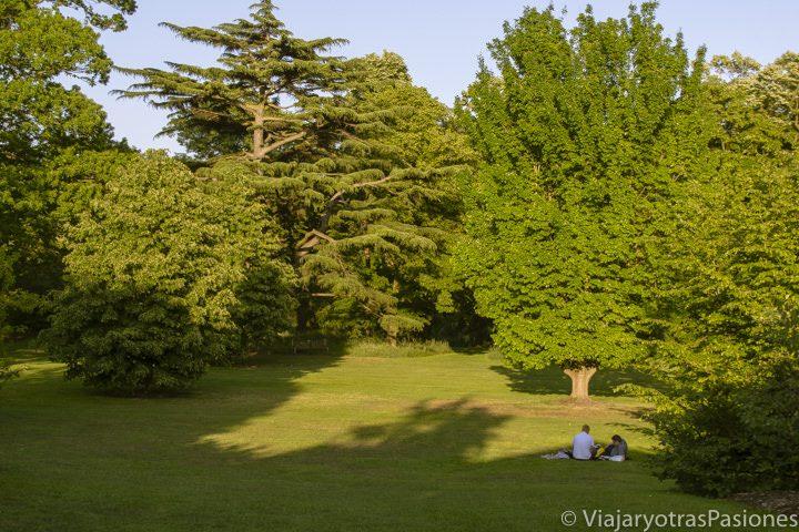 Bonito jardín en los famosos Kew Gardens en Londres, Inglaterra