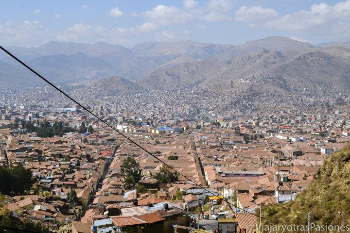 Vista panorámica del centro histórico de Cuzco, Perú