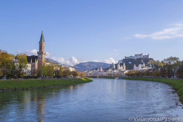 Salzburgo, una preciosa ciudad atravesada por un rio