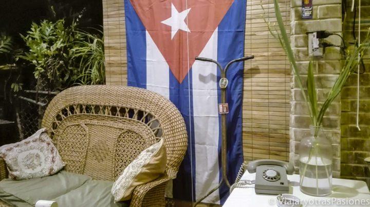 Decoración vintage en la casa particular de Habana