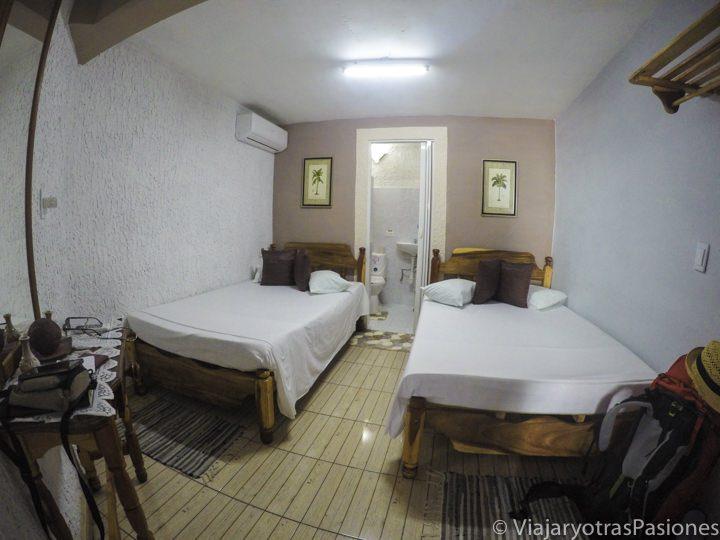 Típica habitación en las casas particulares en Cuba