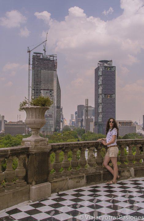 Vista panoramica desde el castillo de Chapultepec en CDMX
