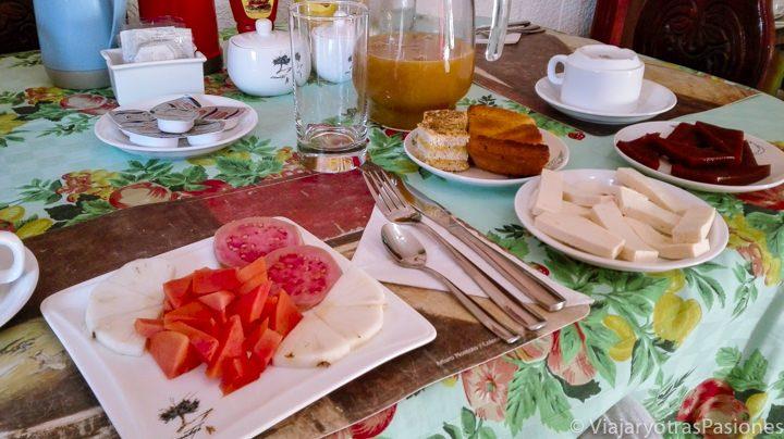 Desayuno en las casas particulares en Cuba