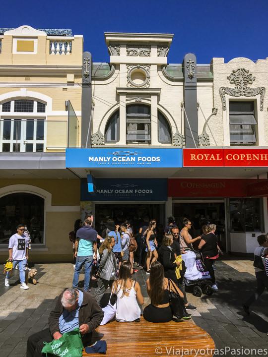 Entrada del Manly Ocean Foods, una famosa tienda de comida en Sydney