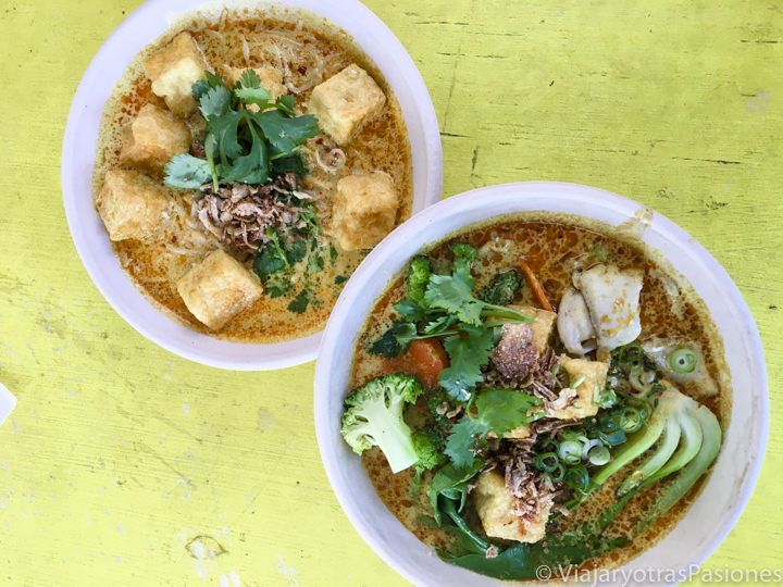 Típica comida asiatica que se puede comer en Sydney, Australia