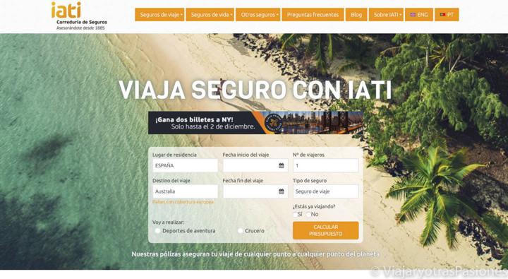 Home page de la compañía de seguros IATI