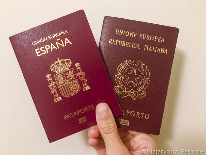 Imagen de pasaportes europeos