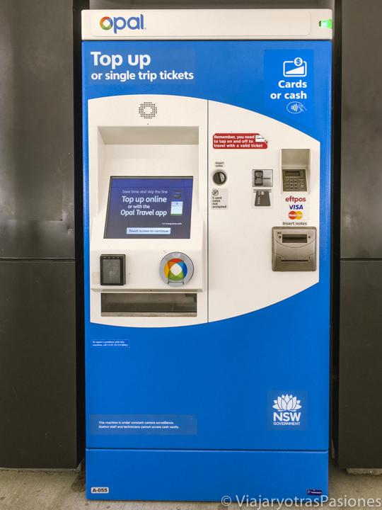 Cajero automático para recargar la Opal Card en Sydney, Australia