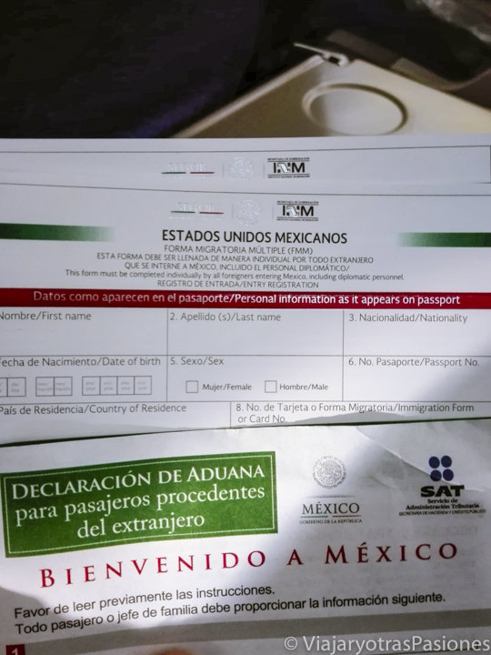 Documents for customs in Mexico on the Road Trip through the Yucatan Peninsula