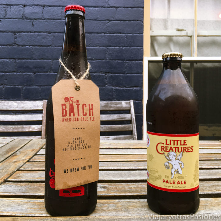 Imagen de dos famosas cervezas australianas, Batch y Little Creatures