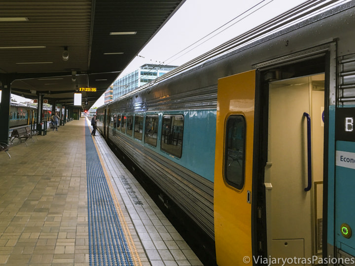 Típico tren en la Central Station de Sydney, Australia