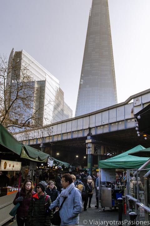 Una de las entradas del Borough market en Londres, Inglaterra