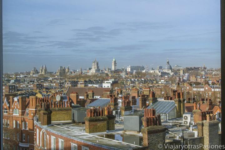 Hermoso panorama desde el centro comercial Peter Jones cerca de Chelsea, Londres