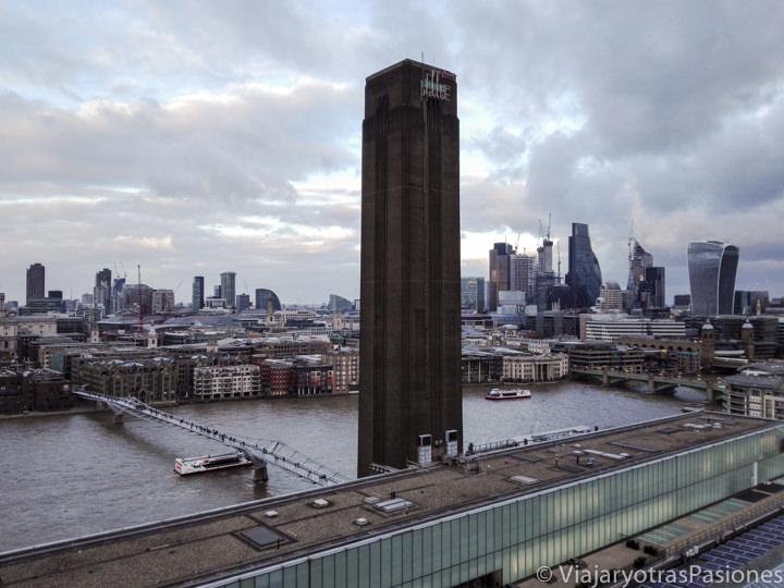 Hermoso panorama de Londres desde el mirador de la Tate Modern