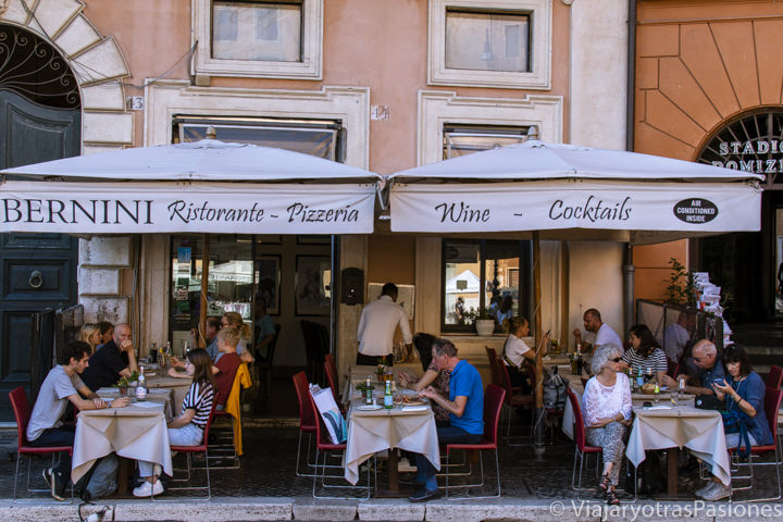 Exterior del restaurante Bernini, en plena Piazza Navona, en Roma