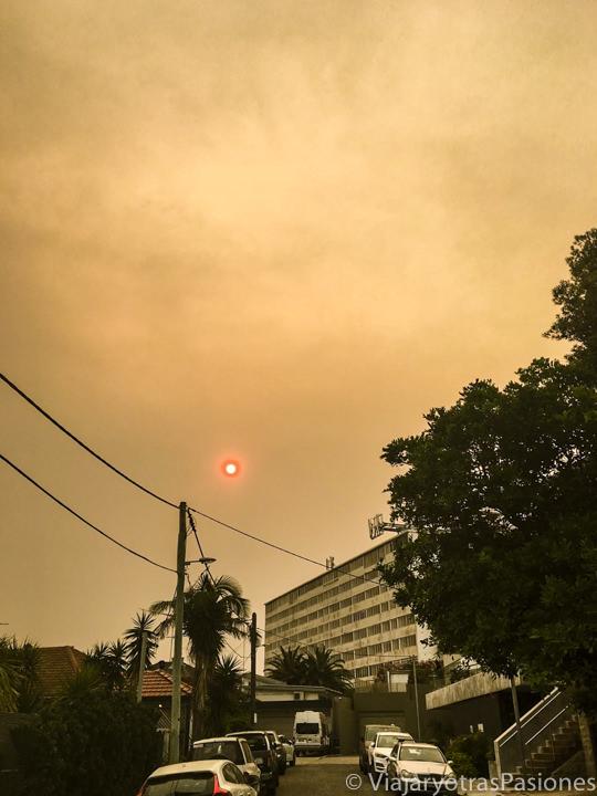 Humos de los incendios del 2019-2020 en Australia