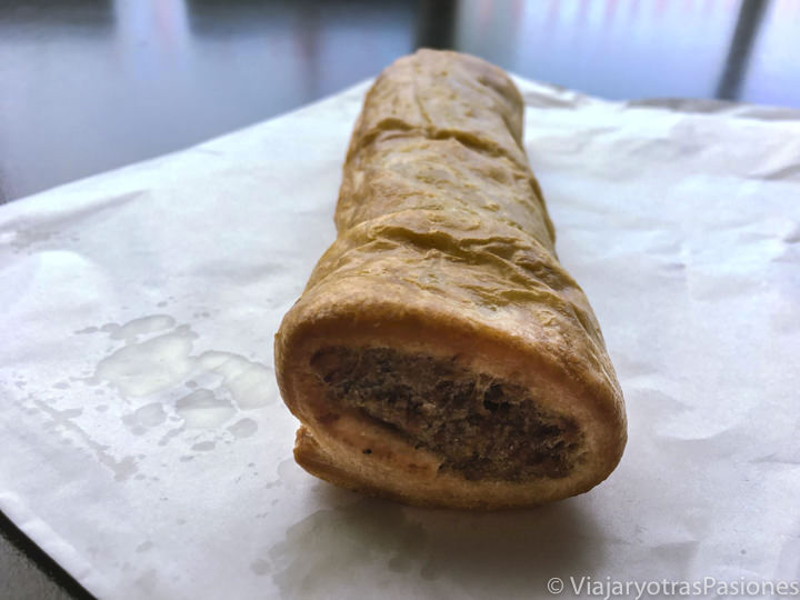 Tradicional Sausage Roll en Londres, Inglaterra
