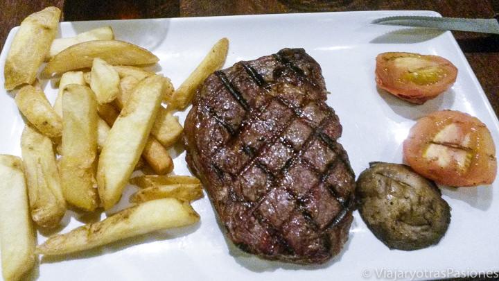 Típico steak que se puede comer en Londres