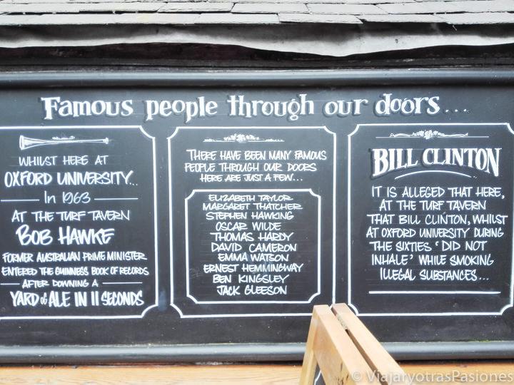 Detalle y história del famoso Turf Tavern en Oxford, Inglaterra